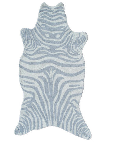 Rug Market America Kids Mini Zebra Gray Gray/White Area main image