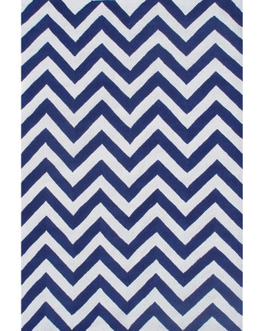Rug Market America Kids Chevron Blue Blue/White Area main image