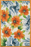 Rug Market America Resort Paradise White/Green/Orange Area main image