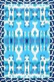 Rug Market America CO Aztec Blue/Teal/White Area 5' 0'' X 8' 0''
