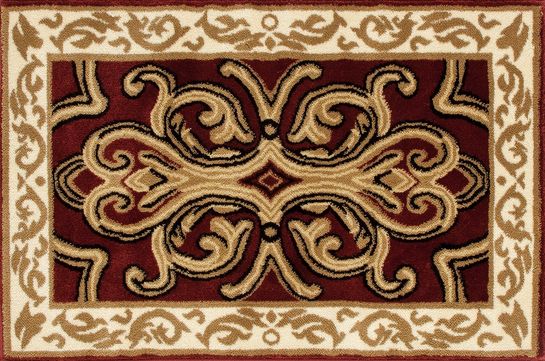 Art Carpet Hearth 2804 Burgundy/Light Beige Area Rug main image