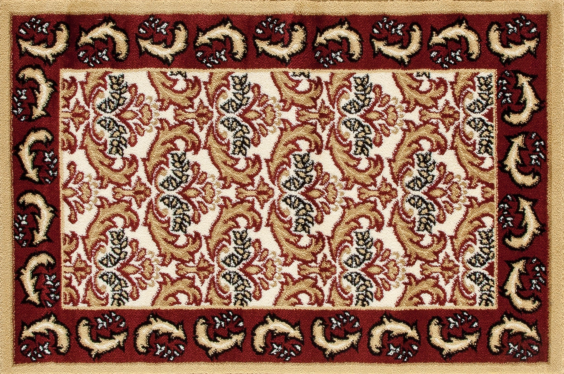 Art Carpet Hearth 2815 Burgundy/Dark Beige Area Rug main image