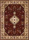 Couristan Anatolia Tribal Diamond Red/Cream Area Rug