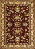 Couristan Anatolia Floral Heriz Red/Cream Area Rug