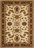 Couristan Anatolia Floral Heriz Cream/Red Area Rug
