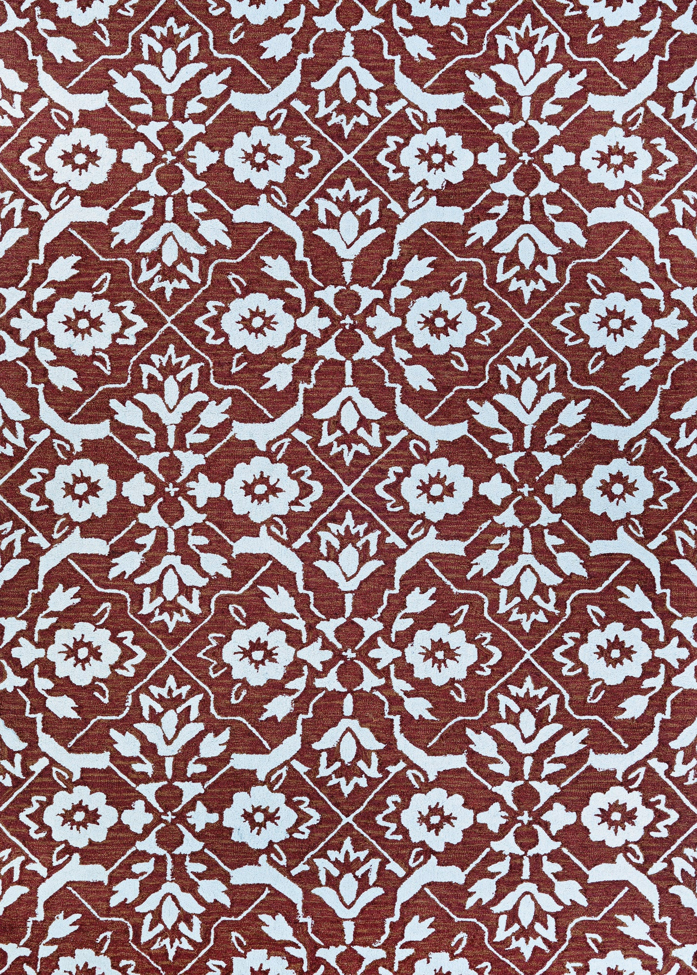 Couristan Crawford Tulip Lattice Flower Pot/Ivory Area Rug main image