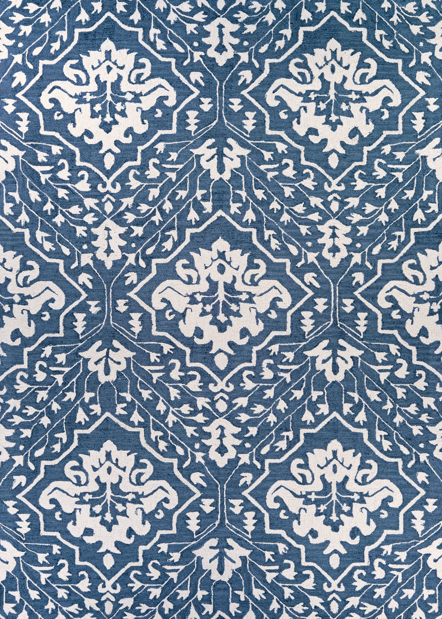 Couristan Crawford Contempogarden Herring Blue Area Rug main image