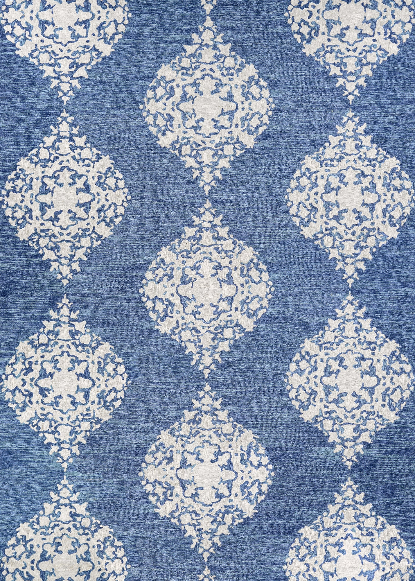 Couristan Crawford Ornament Blue Jay/Ivory Area Rug main image
