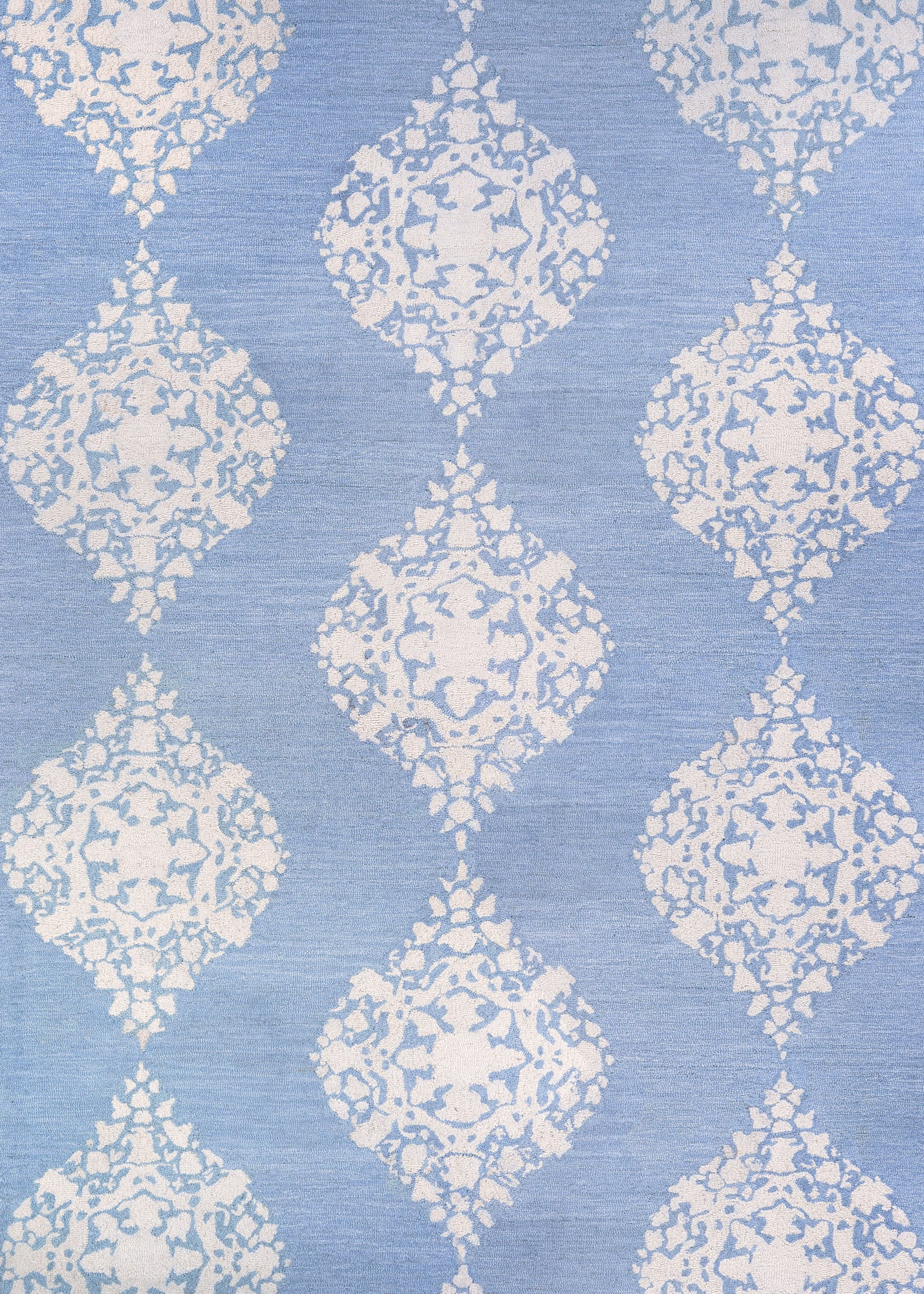 Couristan Crawford Ornament Powder Blue Area Rug main image