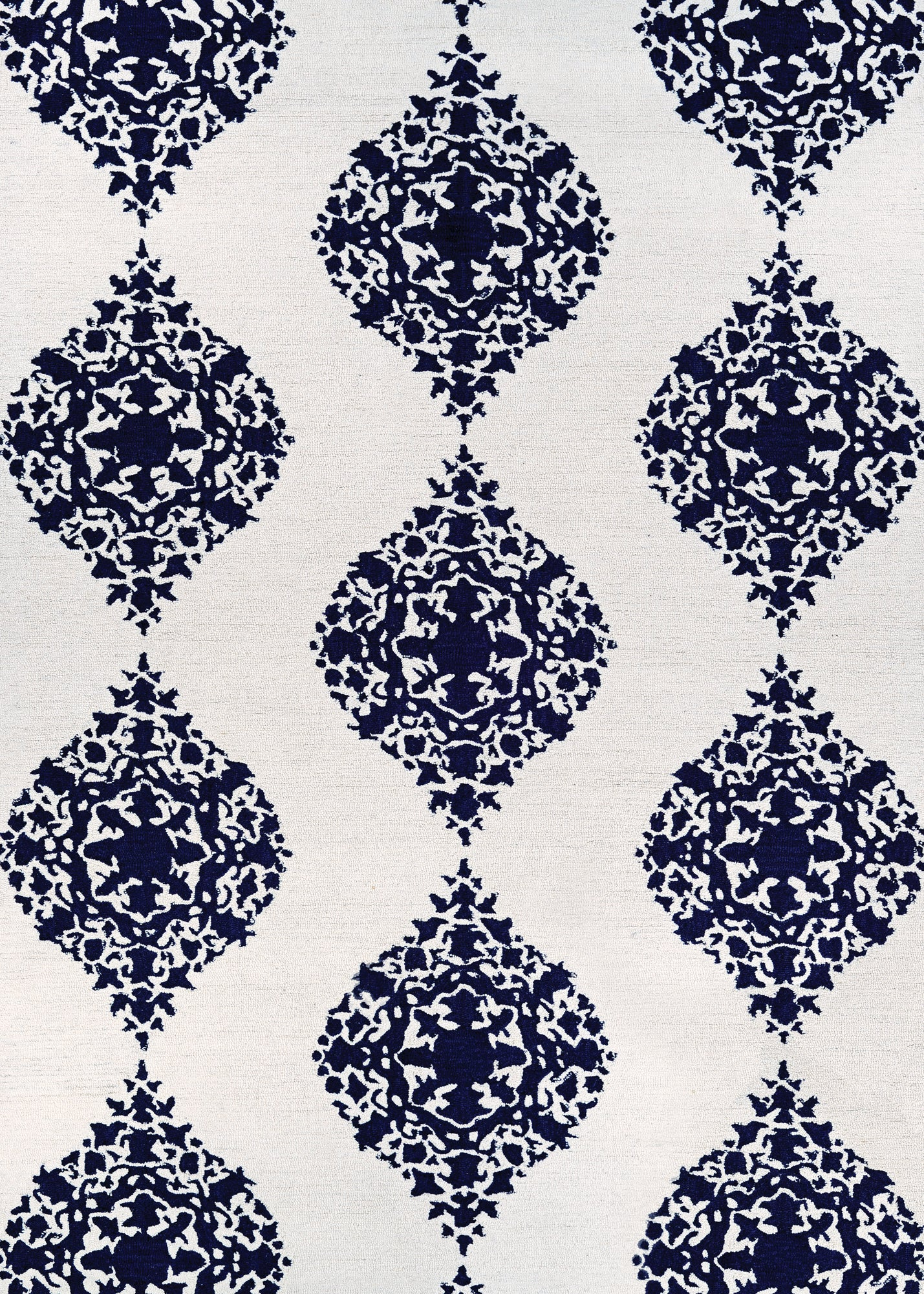 Couristan Crawford Ornament Ivory/Blue Area Rug main image