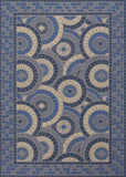 Couristan Five Seasons Sundial Cream/Blue Area Rug