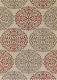 Couristan Five Seasons Montecito Cream/Coral Red Area Rug