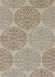 Couristan Five Seasons Montecito Cream/Sky Blue Area Rug