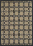 Couristan Five Seasons Retro Clover Black/Cream Area Rug
