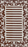 Rug Market America CO Silk Rose Stripe Brown/Ivory Area 5' 3'' X 8' 3''