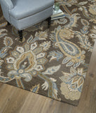 Kaleen Helena Odyusseus-04 Brown Area Rug Lifestyle Shot