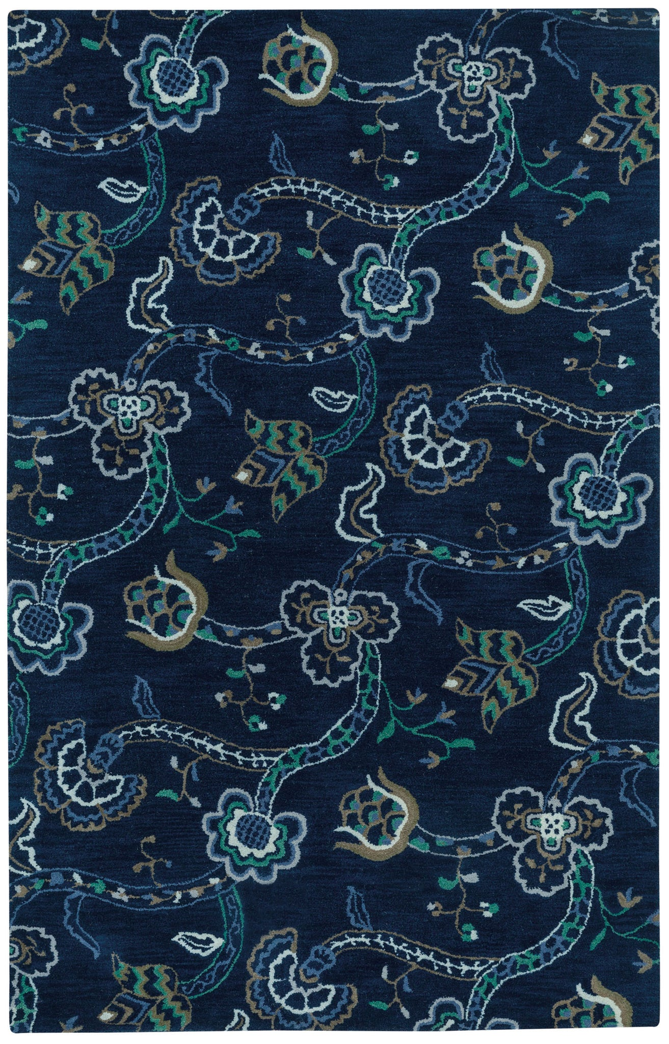 Capel Sheffield 3205 Dark Blue 475 Area Rug main image