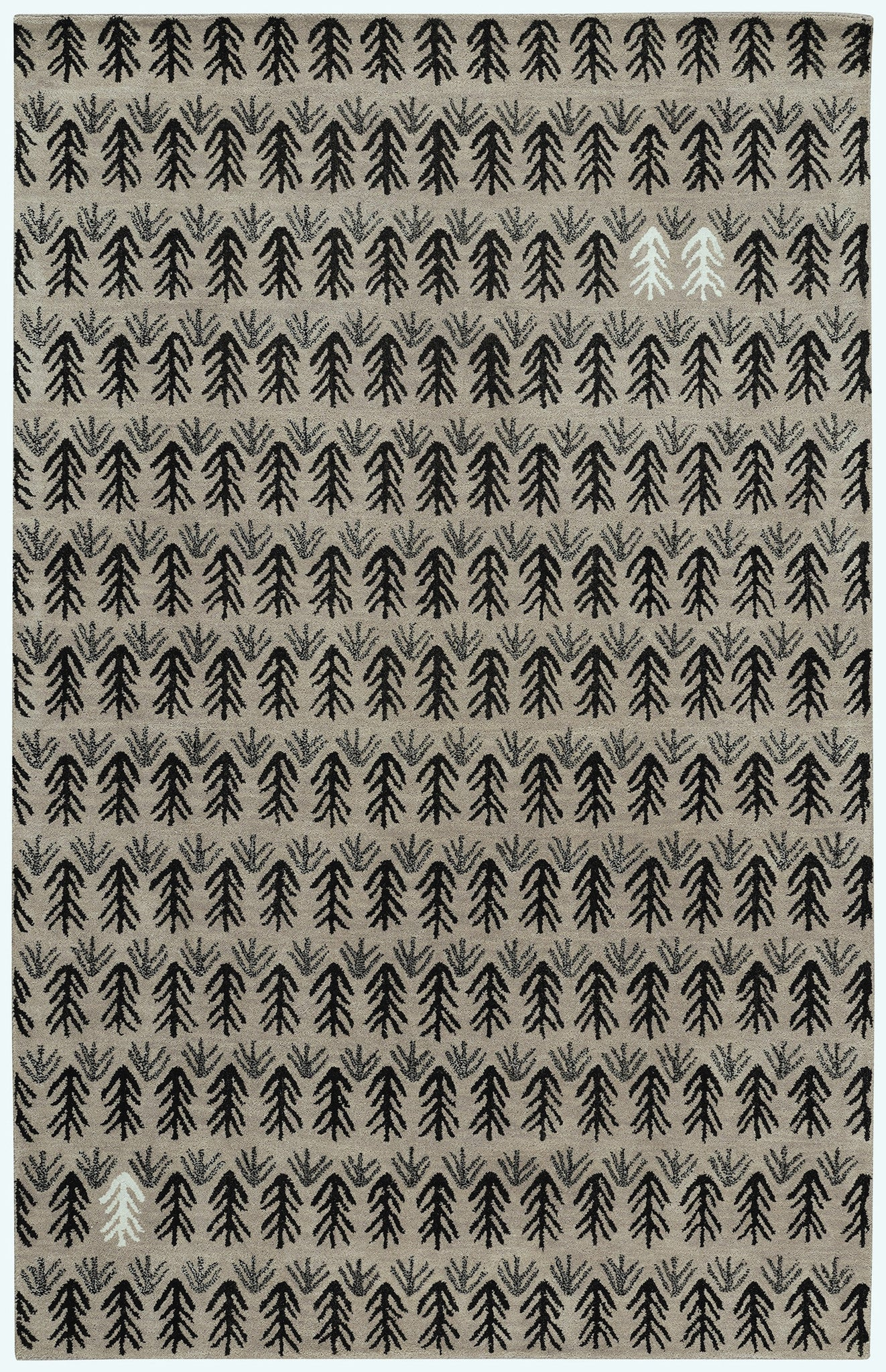 Capel Twigs 3270 Black 350 Area Rug by Genevieve Gorder main image