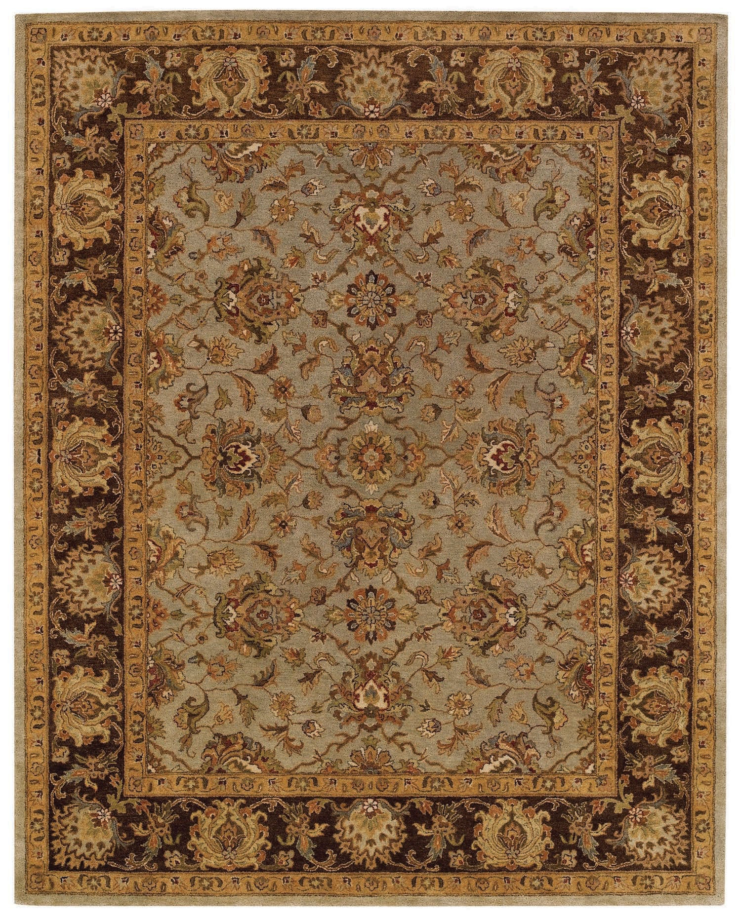 Capel Monticello Meshed 3313 Honeydew/Chocolate 200 Area Rug main image