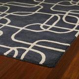 Kaleen Astronomy Nebulae-02 Ebony Area Rug Close-up Shot