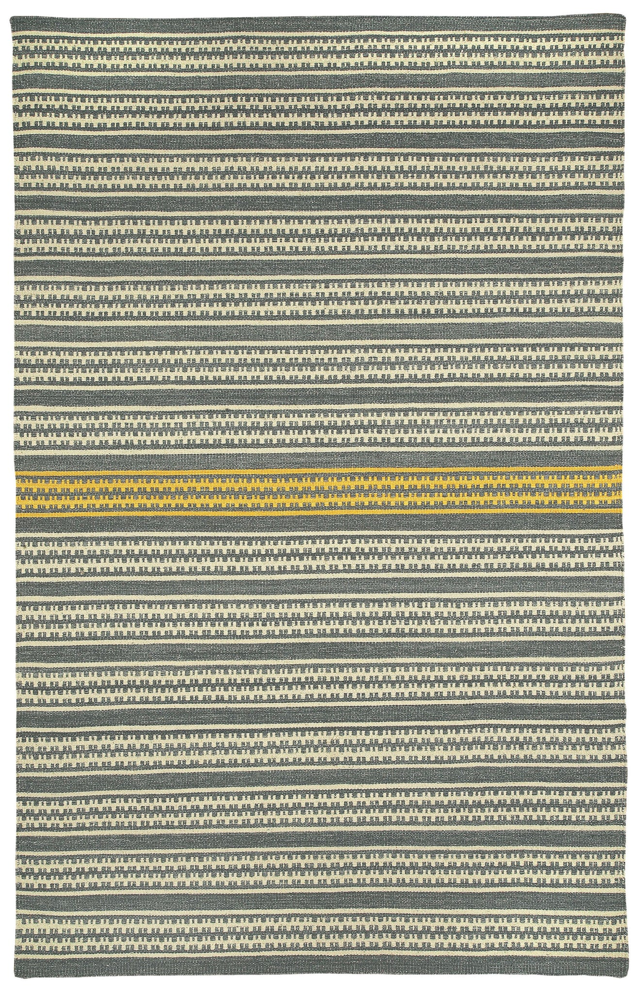 Capel Barred Stripe 3641 Smoke Yellow 300 Area Rug by Genevieve Gorder main image