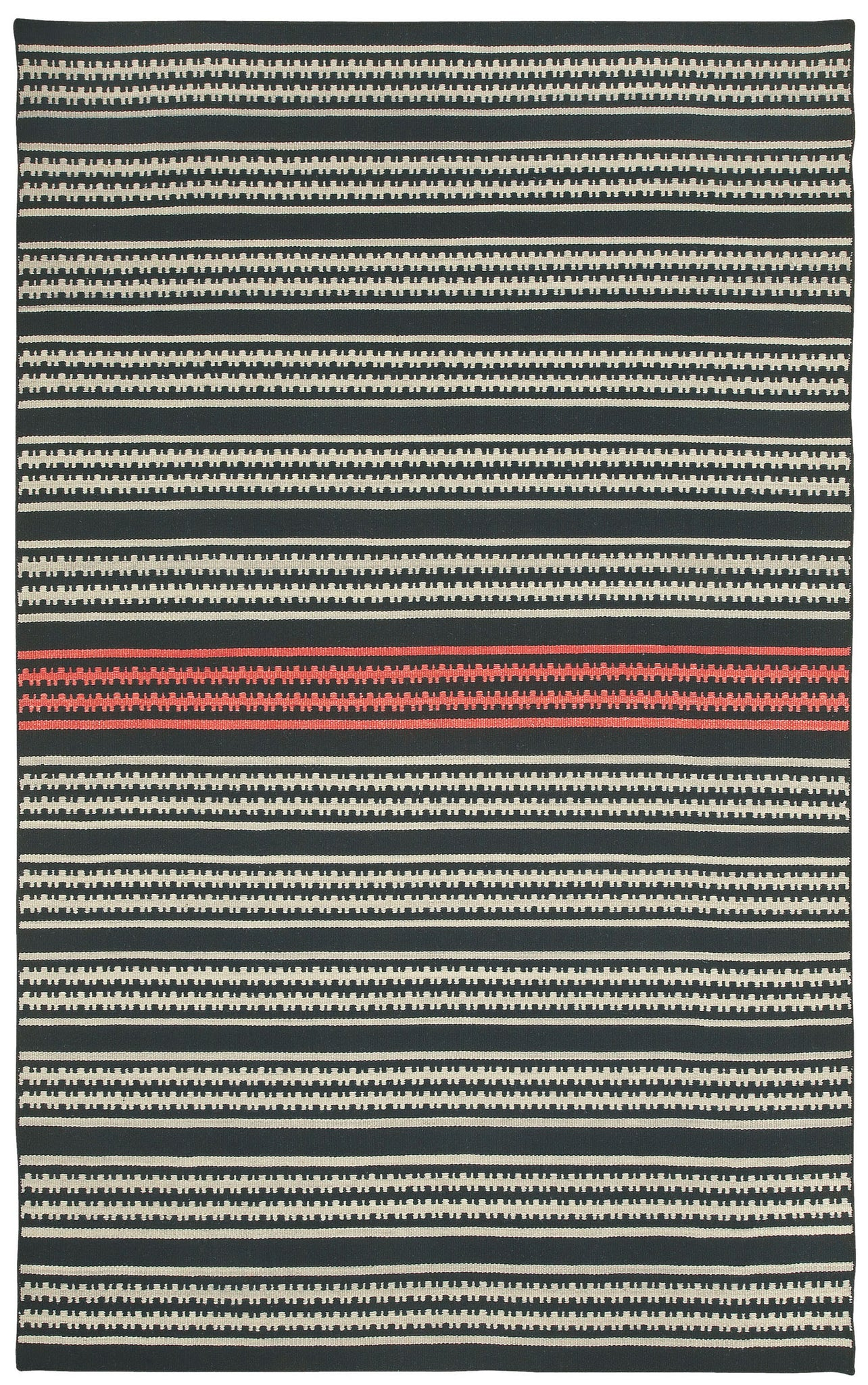 Capel Barred Stripe 3641 Deep Grey Pink 350 Area Rug by Genevieve Gorder main image