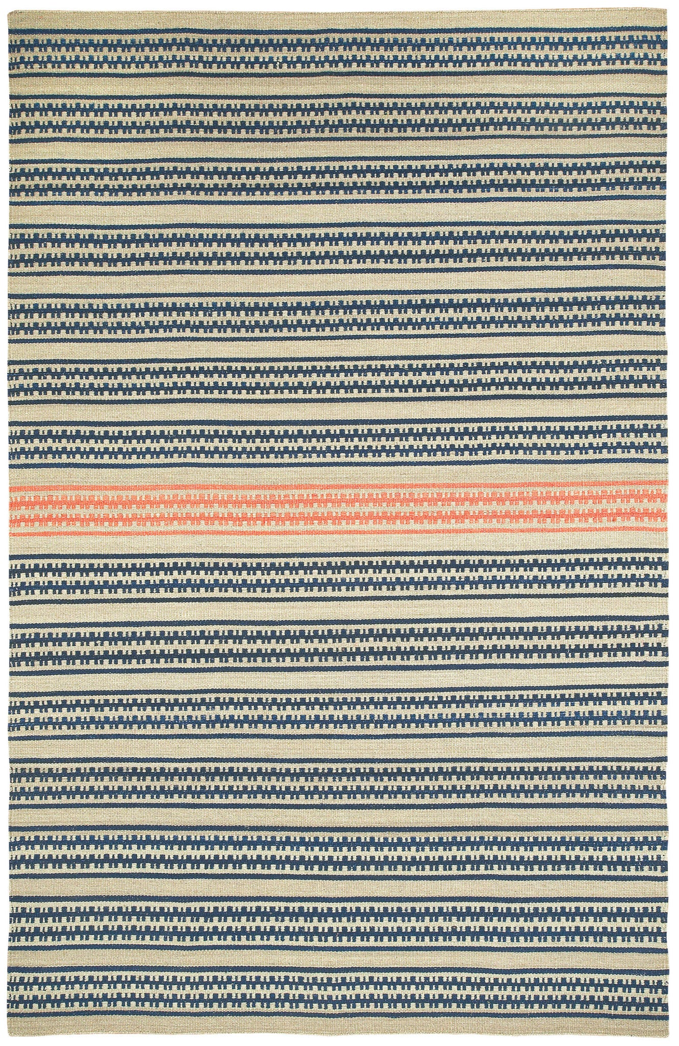 Capel Barred Stripe 3641 Beige Apricot 745 Area Rug by Genevieve Gorder main image