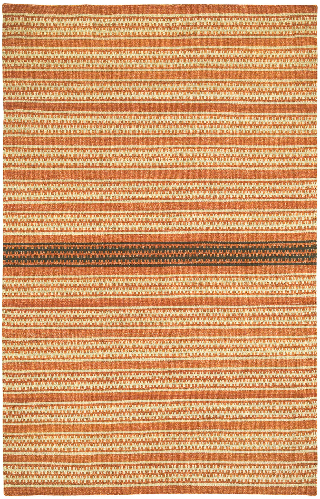 Capel Barred Stripe 3641 Sunny Deep Grey 830 Area Rug by Genevieve Gorder main image