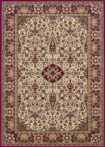Couristan Everest Ardebil Ivory/Red Machine Loomed Area Rug