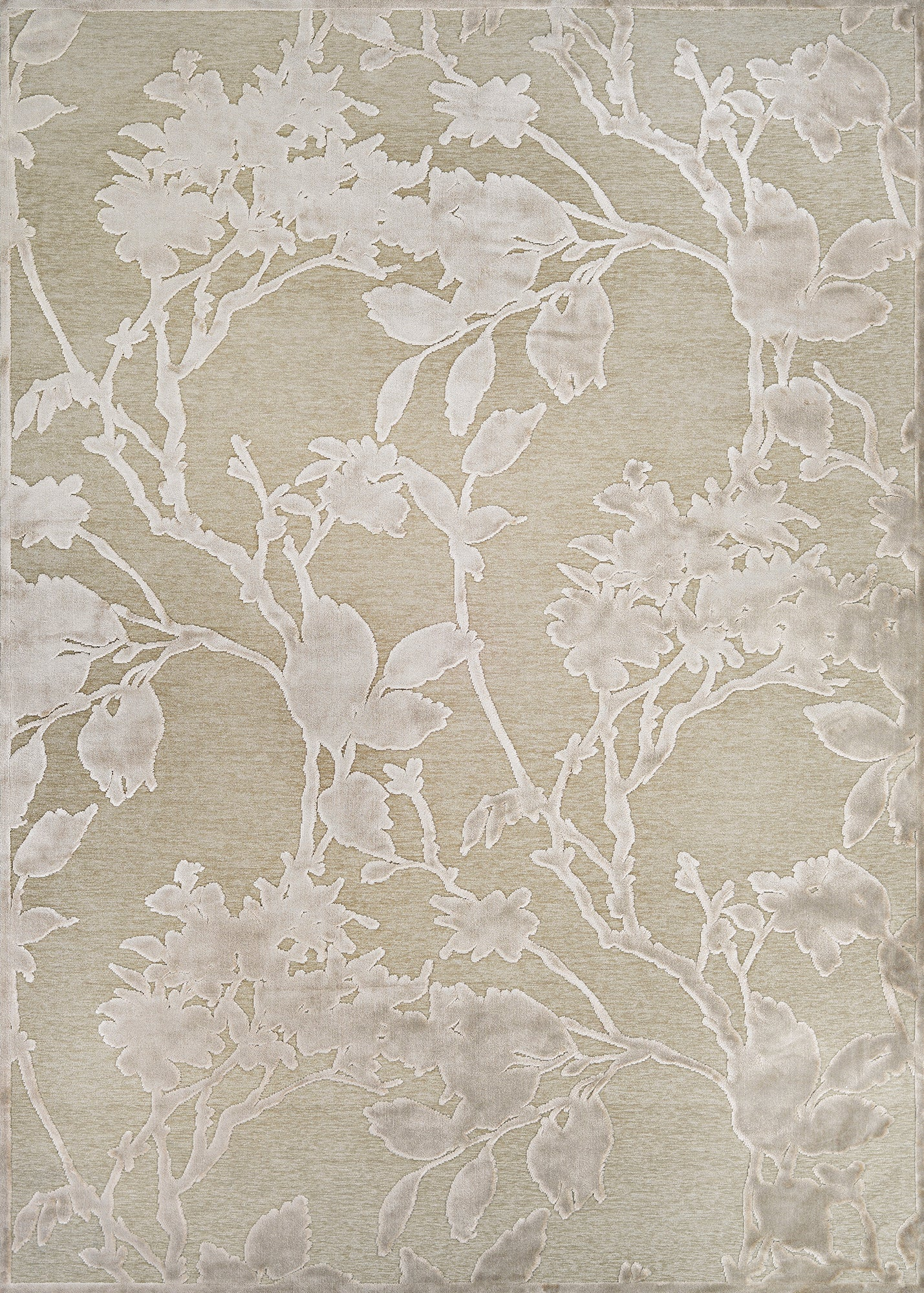 Couristan Cire` Blossom Mushrom/Antique Cream Area Rug main image