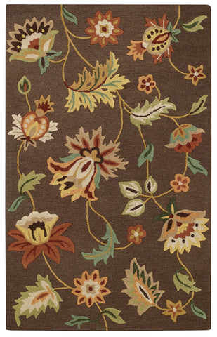 Capel Garden Flowers 3868 Chocolate 750 Area Rug main image