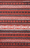 Rug Market America CO Alps Stripe Red/Black/Gray Area 5' 0'' X 8' 0''