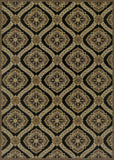 Couristan Dolce Napoli Black/Gold Area Rug