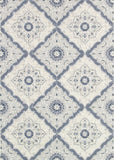Couristan Dolce Brindisi Ivory/Confederate Grey Area Rug