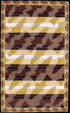 Rug Market America CO Bass Stripe Brown Area 5' 0'' X 8' 0''