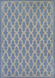 Couristan Five Seasons Crystal Coast Blue/Cream Area Rug