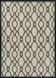 Couristan Five Seasons Byron Bay Cream/Black Area Rug