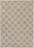 Couristan Five Seasons Sun Island Grey/Cream Area Rug