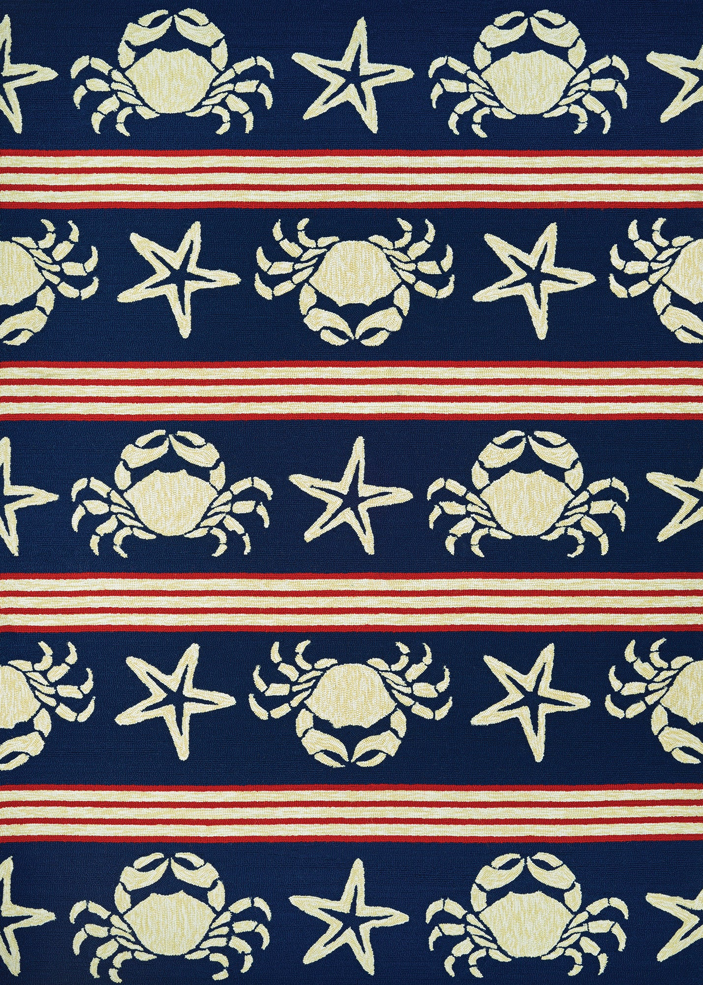 Couristan Outdoor Escape Blue Claws Navy Area Rug main image