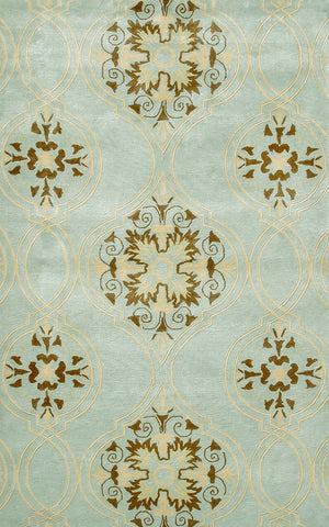 Rug Market America TD Beacon Hill Teal/Brown/Yellow Area main image