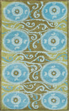 Rug Market America CO Suzani Tile Blue Area 5' 0'' X 8' 0''