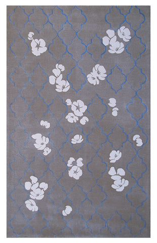 Rug Market America CO Chainlink Gray/Ivory/Blue Area main image