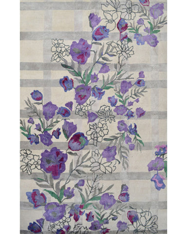 Rug Market America Maison Bloomfield Plaid Ivory/Gray/Purplep Area main image