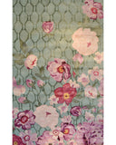 Rug Market America Maison Xanthe Green Green/Lavender Area 2' 0'' X 3' 0''