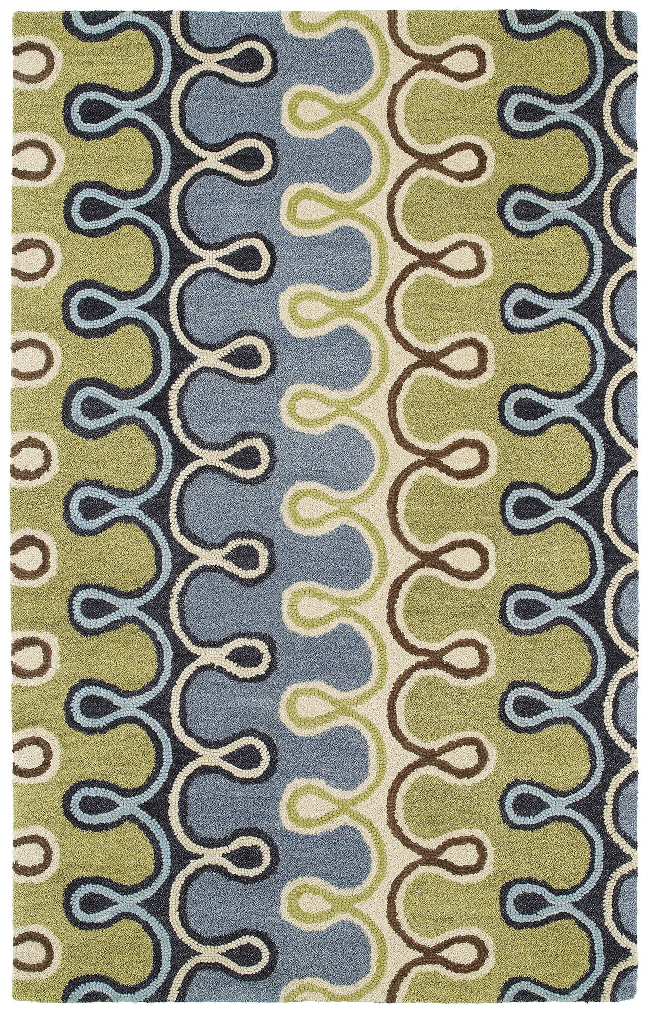 Kaleen Casual Axel-56 Blue Area Rug main image