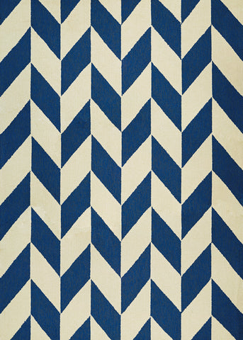 Couristan Covington Herringbone Navy/Ivory Area Rug