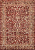 Couristan Cadence Crescendo Ruby/Ivory/Tan Area Rug