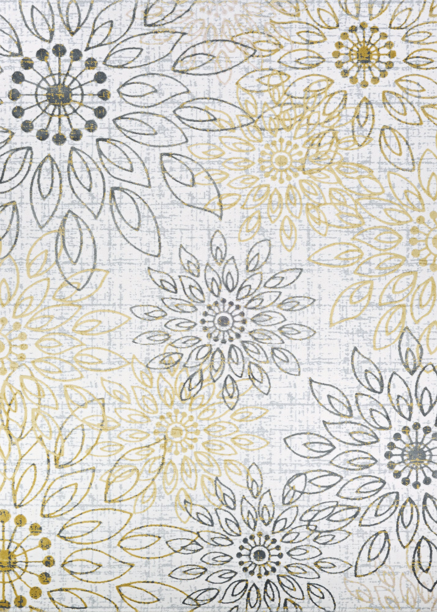 Couristan Calinda Summer Bliss Gold/Silver/Ivry Area Rug main image
