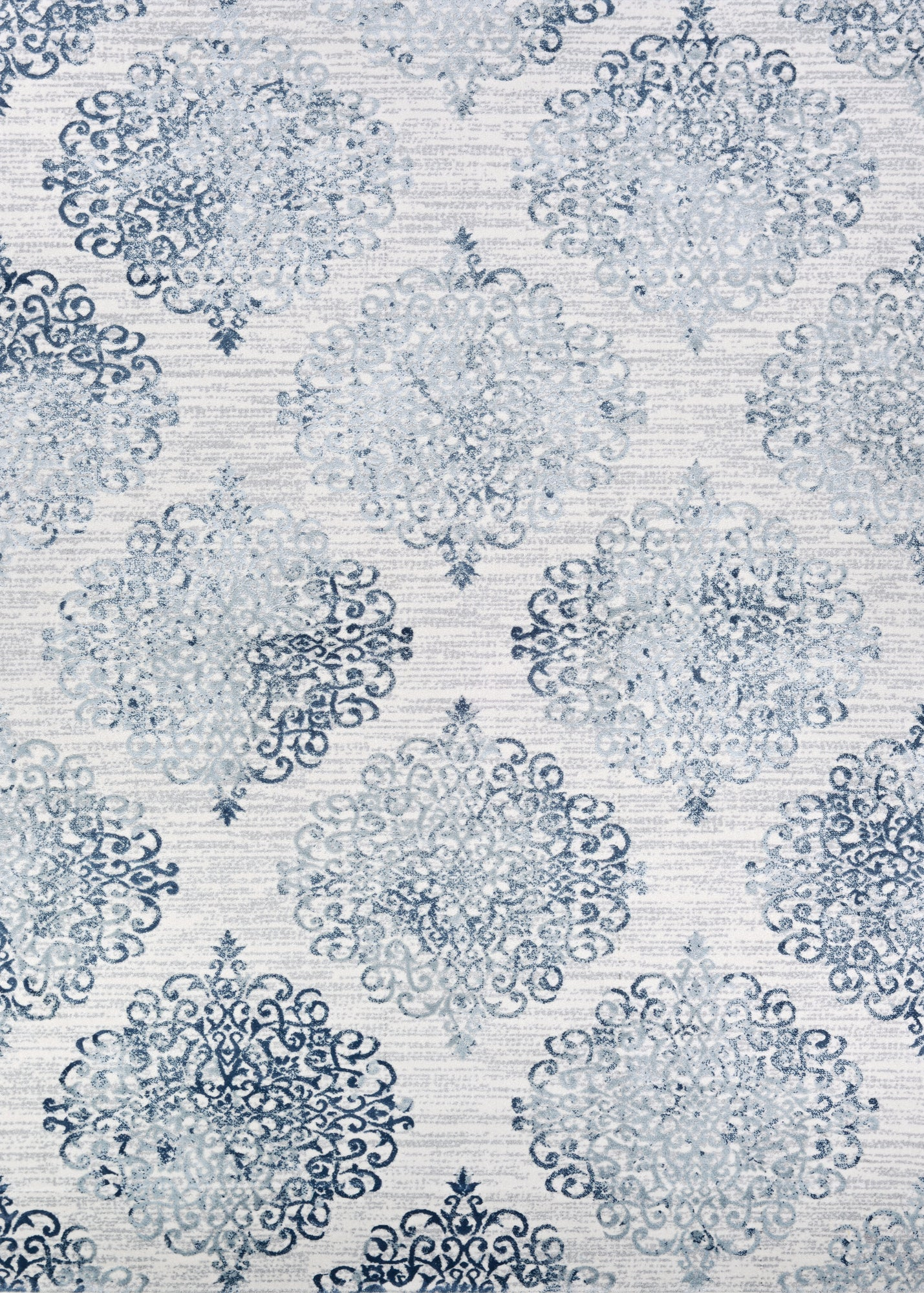 Couristan Calinda Montebello Steel Blue/Ivory Area Rug main image