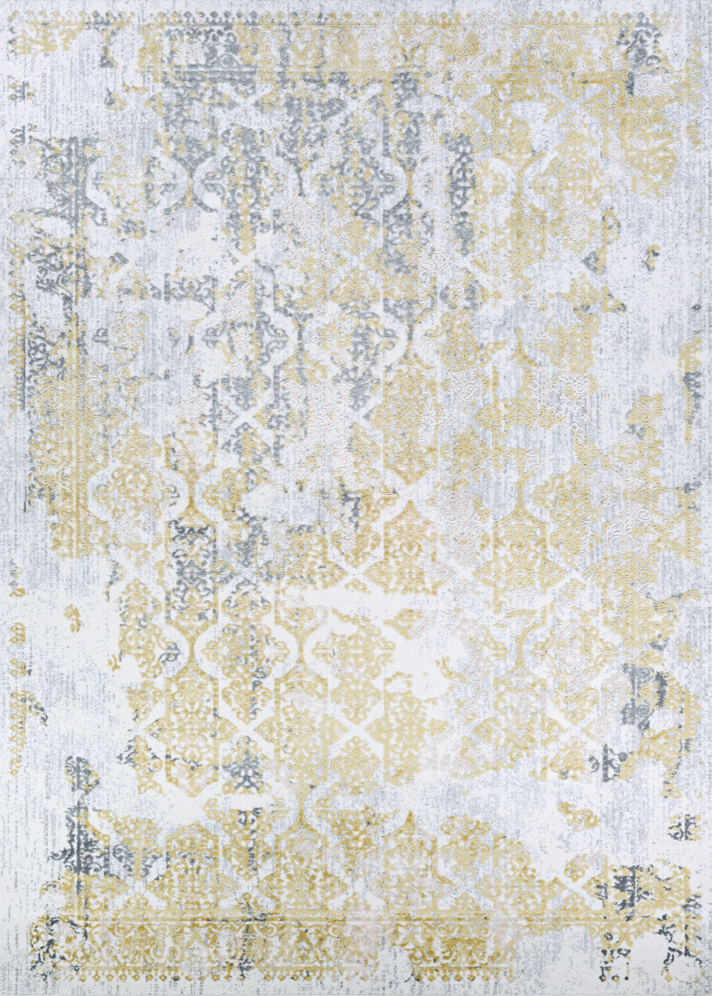 Couristan Calinda Grand Damask Gold/Silver/Ivry Area Rug main image